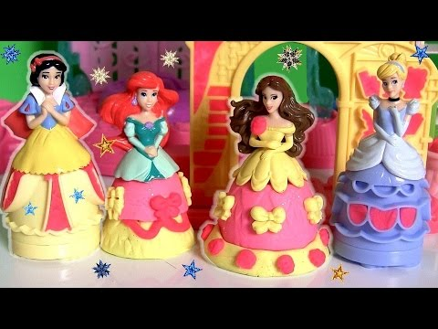 Play Doh Belle Blooming Castle Mix 'n Match Sparkle Playset ♥ Princess Cinderella Ariel Snow White
