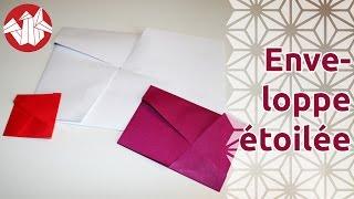 Origami - Enveloppe étoilée