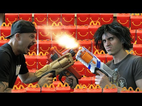 NERF GUNS vs McDONALDS!