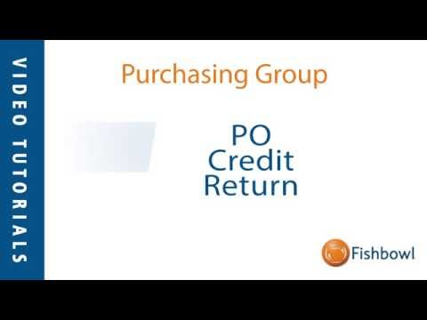 PO Credit Return - Purchasing Group