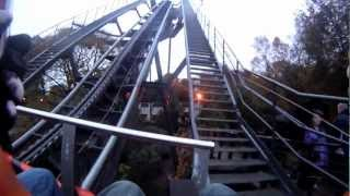 Alton Towers Theme Park HD Front seat POV - Nemesis, Oblivion, Air, Thi3teen, Rita, Sonic Spinball