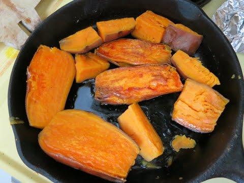 slow cooked lazy man sweet potato