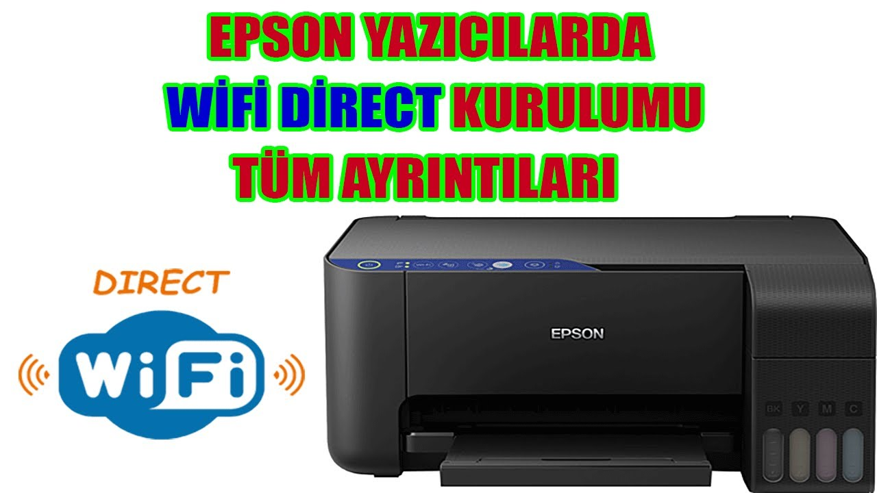 WiFi Direct Kurulumu. Epson L3151 yazıcı WiFi Direct kurulumunun tüm ayrıntıları bu videoda.