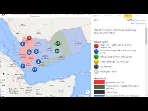 Yemen war map 2017  | Saudi Arab fight with Yemen Today news