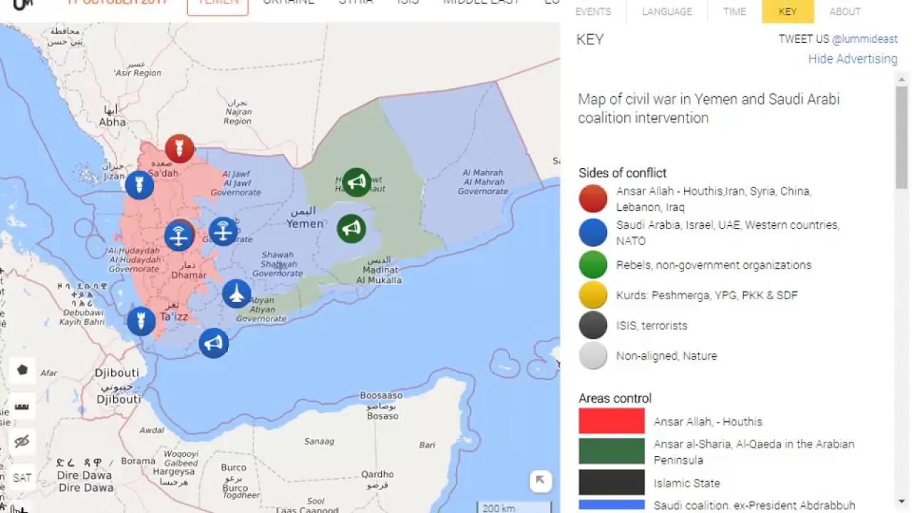 Yemen War Map Saudi Arab Fight With Yemen Today News YouTube - Map of yemen
