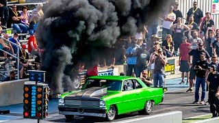 DIESEL NOVA!? Rolling Coal Down The DRAG STRIP!