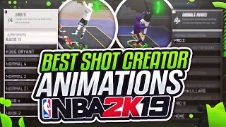 NBA 2K19 *NEW* BEST ANIMATIONS AFTER PATCH! BEST SHOT CREATOR ANIMATIONS IN NBA 2K19!