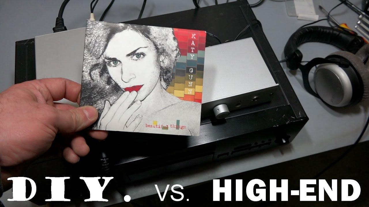 DIY vs  High-end headphone amp TPA6120a2 vs  Musical Fidelity V90-BHA