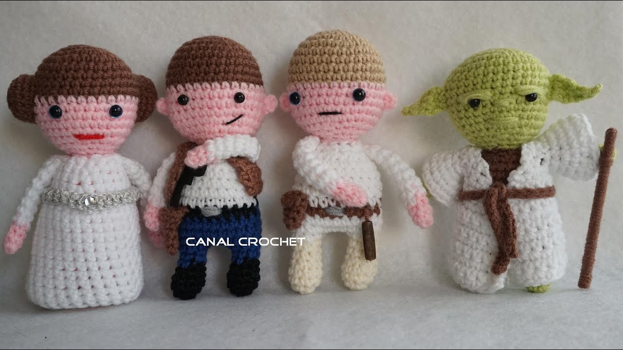 Amigurumi Star Wars Patterns : Star war amigurumis 2 tutorial youtube