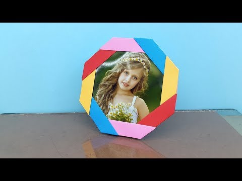 Make Photo Frame out of Paper - DIY Paper Photo Frame Making Ideas