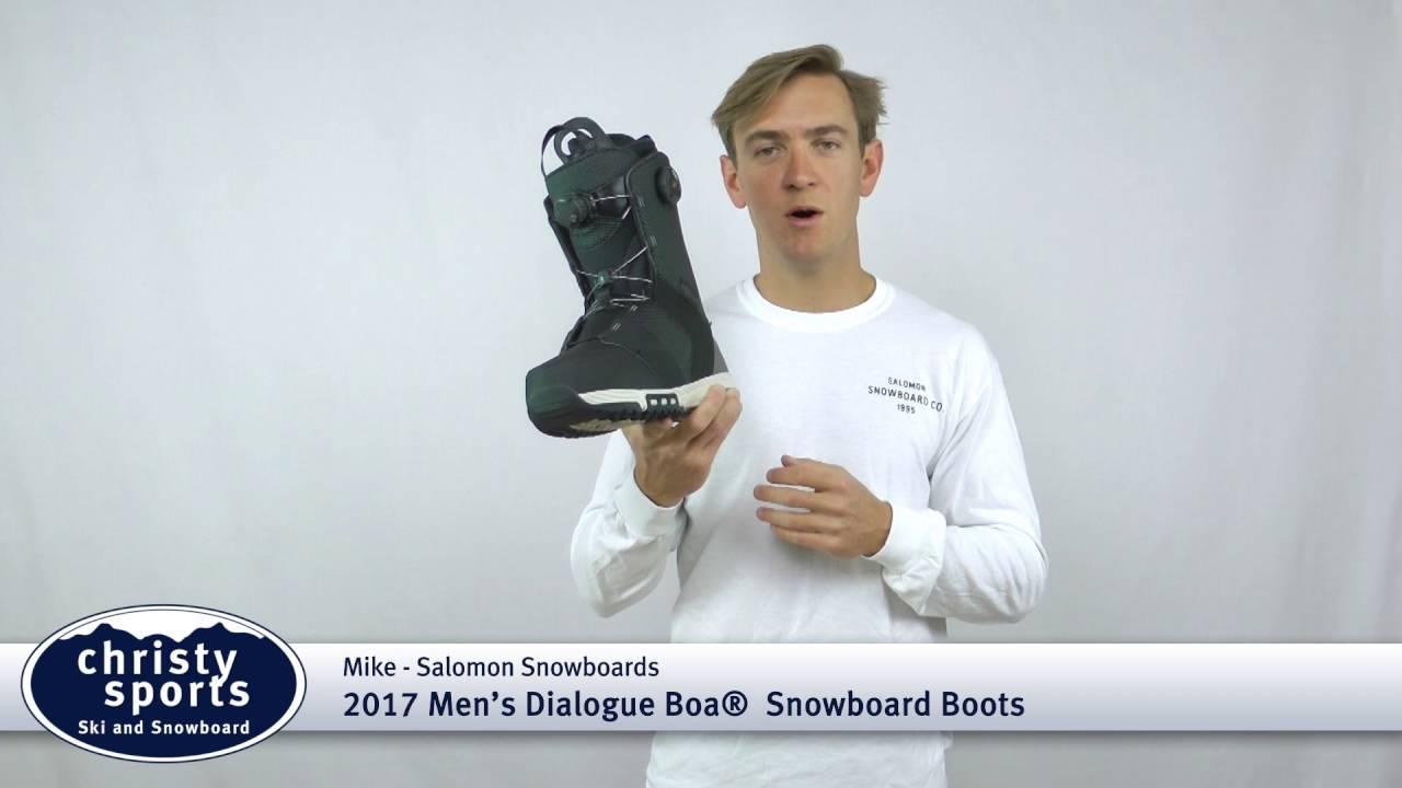 meilleur site web 19ec7 b2c31 2017 Salomon Dialogue Focus Boa Snowboard Boots Review - Christy Sports
