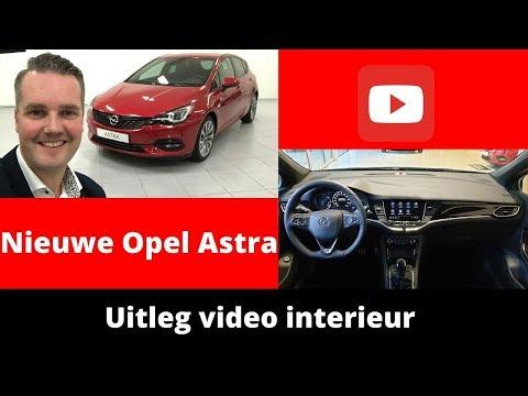 Review Opel Astra 2020 - Uitleg video interieur