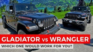 Jeep Gladiator vs Wrangler | Which Rubicon is for you?