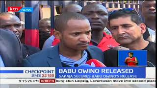Babu Owino who has been in the police cells for the last three days is now a free man