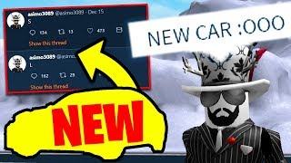 ASIMO TWEETED the NEW CAR in UPDATE! Jailbreak New Vehicle Leak! | Roblox Jailbreak Winter Update