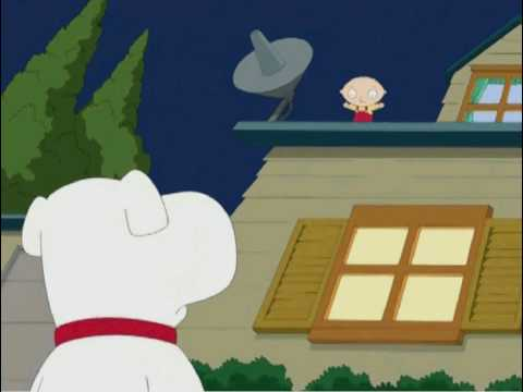 Family Guy - Stewie Stuck On Roof