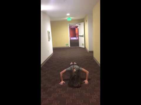 Maddie Ziegler does the 22 Push Up Challenge