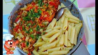 макароны с овощами простой рецепт ужина
