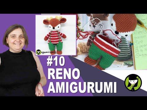 RENO DE NAVIDAD TEJIDO A CROCHET 10 Amigurumis navideños