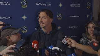 Zlatan Ibrahimovic on the LA Galaxy39s MLS Cup Playoffs defeat the 2019 season and his future in MLS