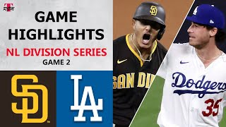 San Diego Padres vs. Los Angeles Dodgers Game 2 Highlights | NLDS (2020)