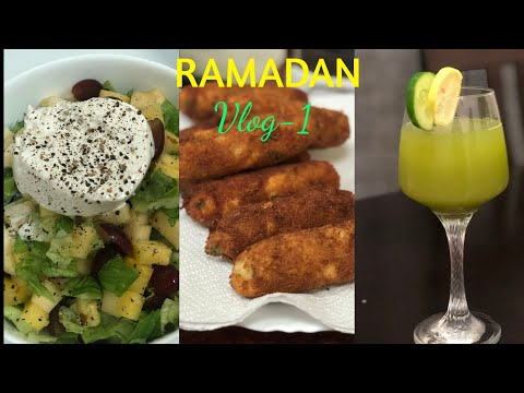 ramadan-vlog1/macaroni-chicken-roll/cucumber-lemonade/mixed-cream-salad/chicken-curry-in-coconutmilk