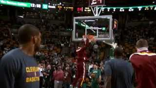 LeBron James' Pregame Dunk Show in Super Slow-Mo