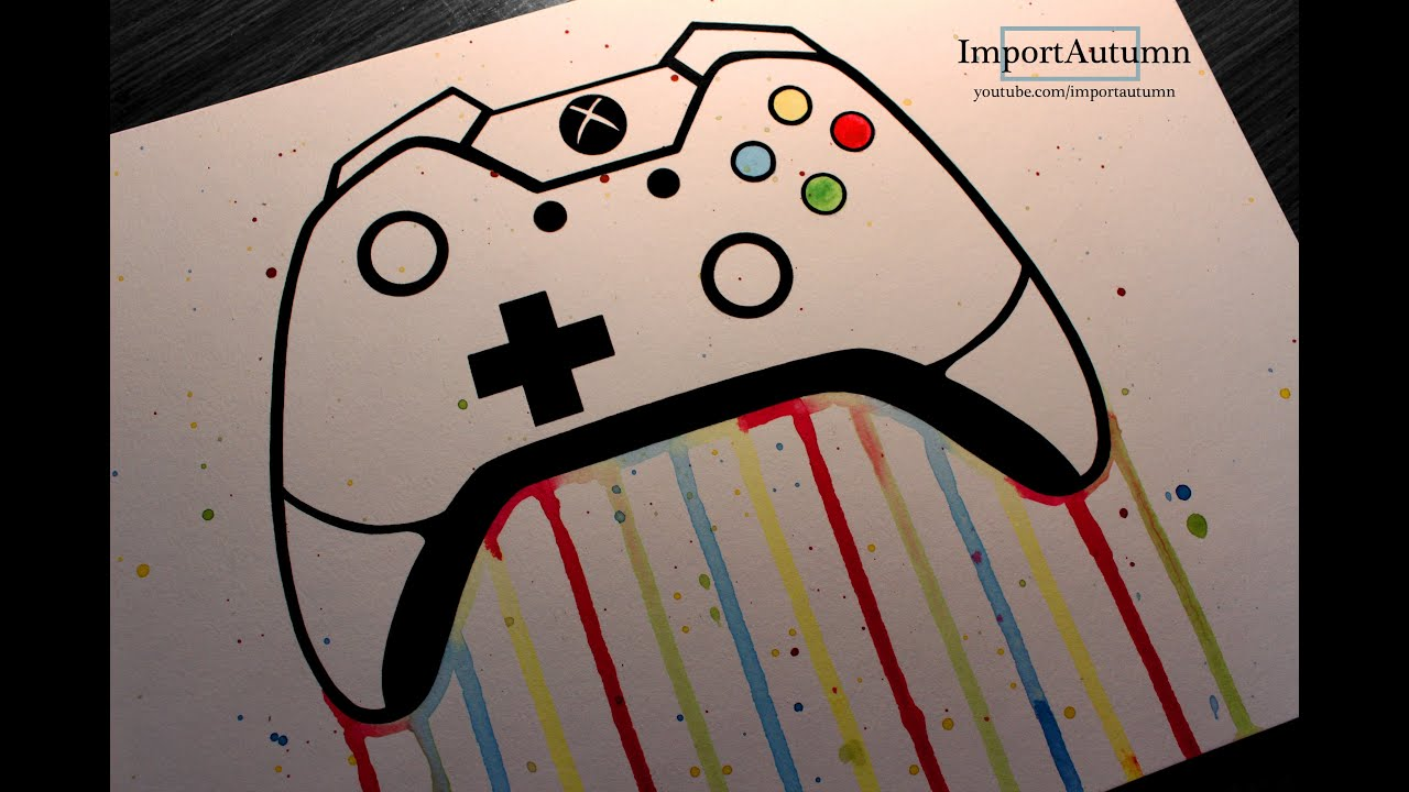 Scribble Drawing Xbox One : Daily drawing xbox one controller youtube