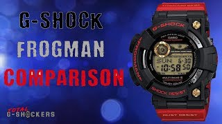 Casio G Shock Frogman Comparison Review | GWF-1000 | GWFD-1000 | GF-8200