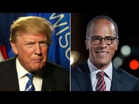 Donald Trump grades Lester Holt