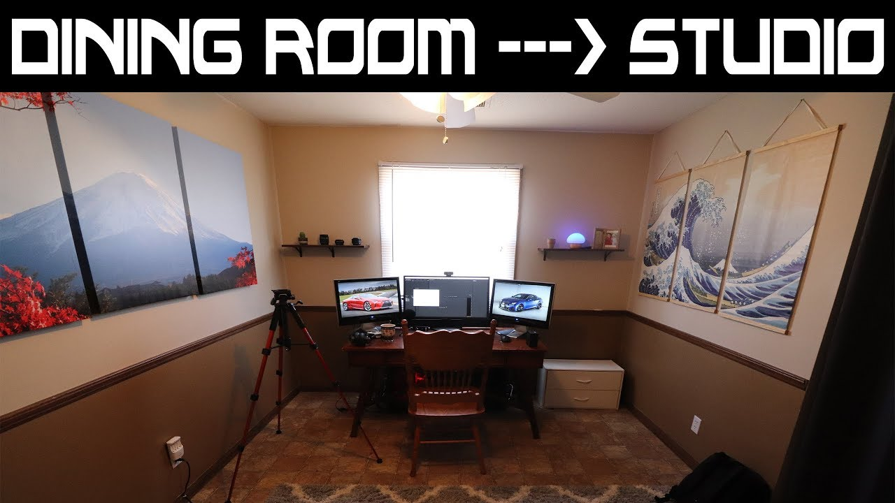 Studio Tour Converting Dining Room to Studio for Youtube