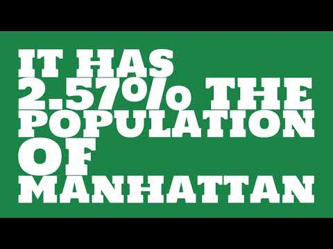How does the population of Oakland Park, FL compare to Manhattan?