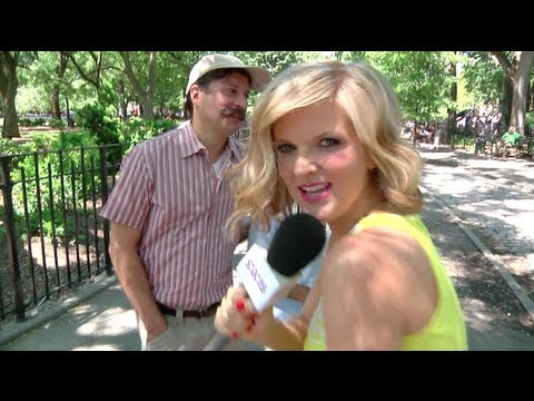 Arden Myrin convinces mustachioed stranger to take her home  Take Me Home video
