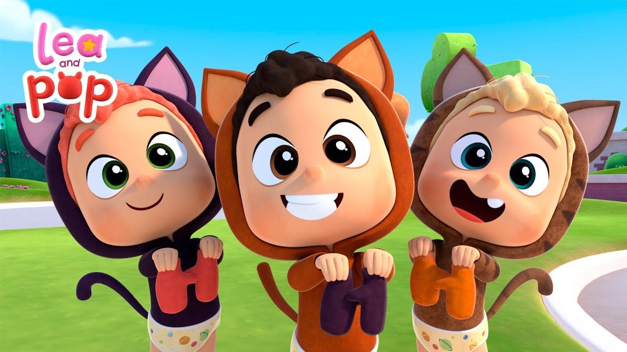Download 3 pequeños gatos | Cantando con Lea y Pop | Cocotoons - Canciones infantiles