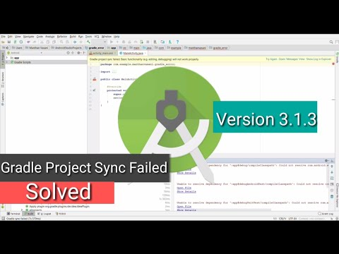 Solve Gradle Error In Android Studio Version 3.1.3