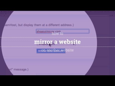 How to Mirror a Website