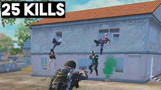 WHY DID THEY JUMP OUT? | 25 KILLS SOLO vs SQUAD | PUBG mobile 🐼