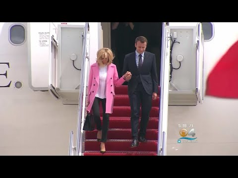 French President Macron Arrives For First State Visit Under Trump Administration
