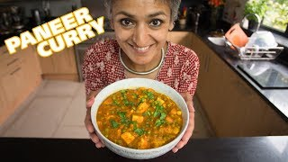 'Matar Paneer' - peas and paneer curry! Home cooked Indian food with Chetna