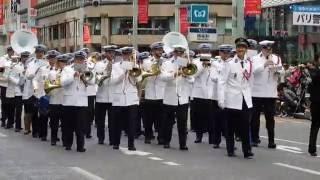世界のお巡りさ銀座パレード2016「パリ警視庁音楽隊」Paris Metropolitan Police Department musical band