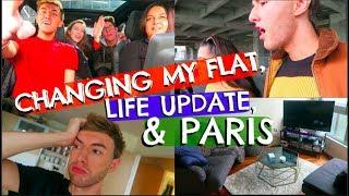 CHANGING MY FLAT, LIFE UPDATE & PARIS (DAILY VLOG)