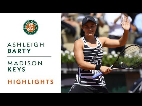 Ashleigh Barty vs Madison Keys - Quarterfinals Highlights   Roland-Garros 2019