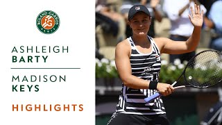 Ashleigh Barty vs Madison Keys - Quarterfinals Highlights | Roland-Garros 2019