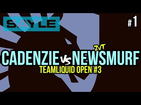 Recommended: CadenZie vs NewSmurf ZvT - TeamLiquid Open #3 Ro64 - P1