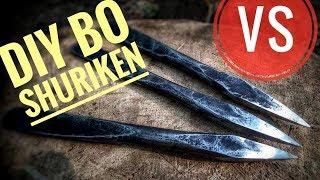 DIY Bo Shuriken VS Kevlar/Broken Riot Shield/Skateboard (Penetration Test)