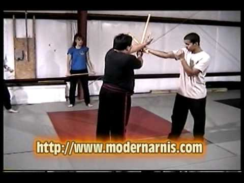 modern arnis live seminar on stick trapping techni...