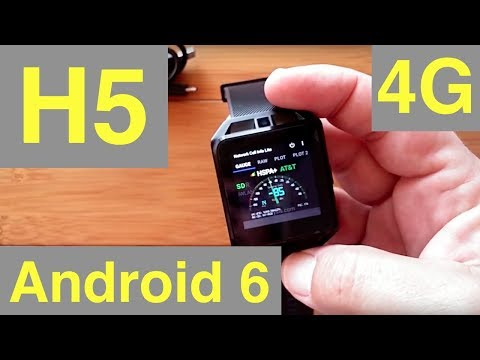 Microwear H5 Android 6 Smartwatch With 4G Cellular: Unboxing & Review
