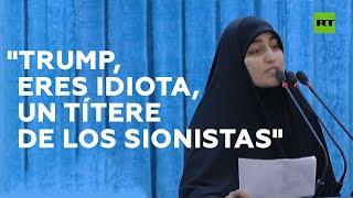 La hija de Soleimani lanza un mensaje para Trump en el funeral de su padre