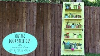 Diy Vintage Door Shelf