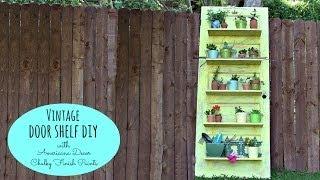 Diy Vintage Door Shelf